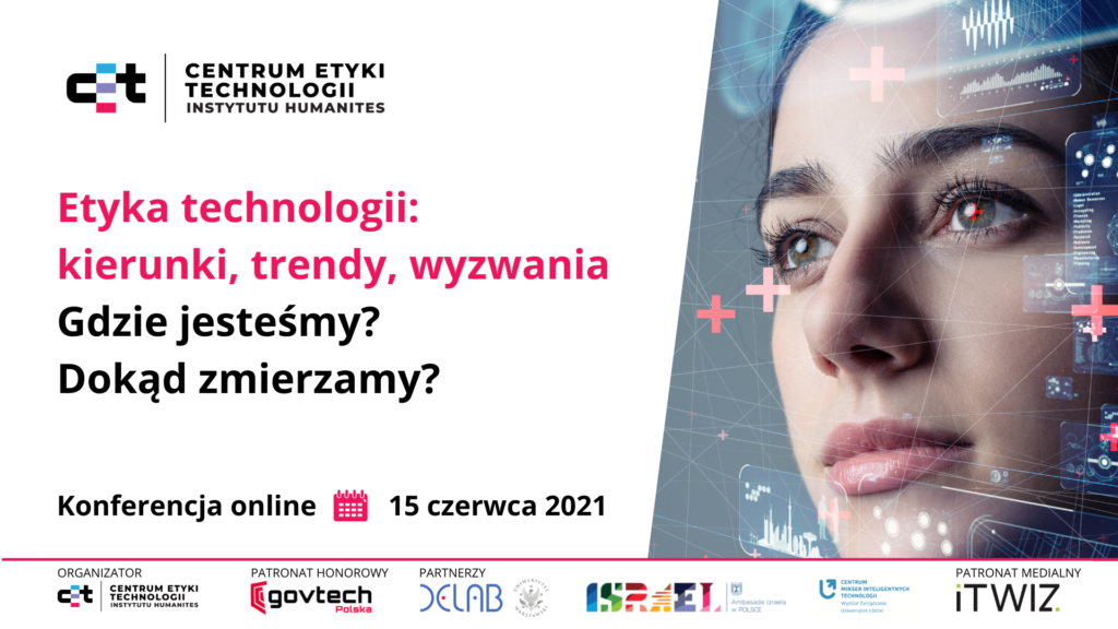 Baner konferencji CET Etyka technologii: kierunki, trendy, wyzwania